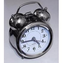 Relógio Despertador Analógico Modelo Antigo 2 Sinos Mecânico