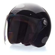 Capacete Lucca Galaxy 3 Em 1 Glossy Black Com 3 Viseiras +nf
