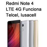 Xiaomi Redmi Note 4 Global 4g Lte Telcel Iusacell 4ram/64rom