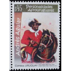 Osl Sello Mint Uruguay Afrouruguayo Andres Aguiar - Caballo