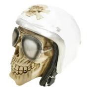 Caveira Cranio Decorativo Capacete Motoqueiro Fantasma Hallo