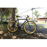 Bicicleta Fixie Doble Freno Marco Y Componentes De Aluminio