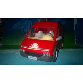 Playmobil Camioneta Roja Repartidora De Comida Ciudad Js B