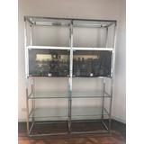 Mueble Bar Hierro 2m X1,50 C/ Estantes De Vidrio 1cm Espesor