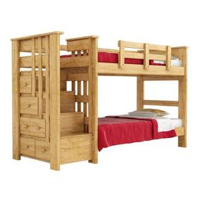 Literas para ni os de madera en mercado libre m xico - Literas con escaleras de cajones ...