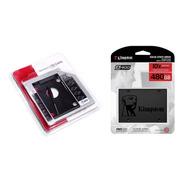 Ssd 480gb Kingston A400 Sata + Caddy 9,5mm Para Pc Notebook
