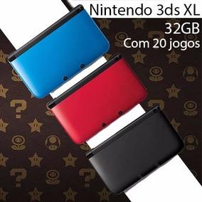 Nintendo 3ds Xl 32gb Classe 10 + 20 Brindes A Escolha