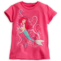Remera Disney Store Ariel Sirenita Princesa Talle 2/3 Y 5/6