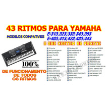 Ritmos Yamaha E-323,e-333,e-343, E-403,e-423,e-433-43 Ritmos
