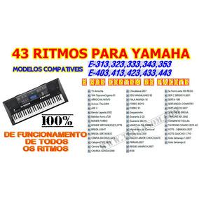 43 Ritmos Yamaha Para E-323,e-333,e-343, E-403,e-423,e-433