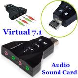 Tarjeta Usb Audio 3d Virtual Dj 7.1ch Pc Laptop Notebook
