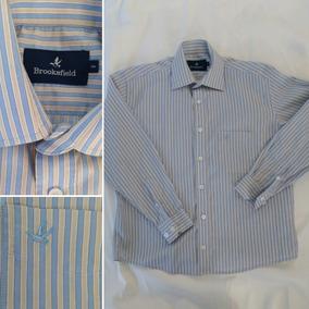 Camisa Social Menino Brooksfield Tam 8 Listrada Azul Branca 754c814f4535a