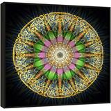 Quadro Mandala Tela C/ Moldura - Semente De Energia