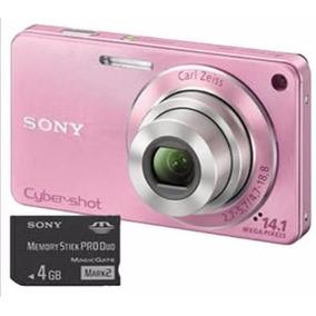 Sony Cyber-shot Dsc-w350 Rosa +cartao De 4gb Frete Gratis