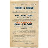 Folleto Gaspar Remate De Lote Terreno Rosario Santa Fe 1948