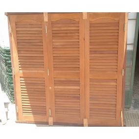 Ventanal De Algarrobo De 150x150 Vidriera Con Postigo