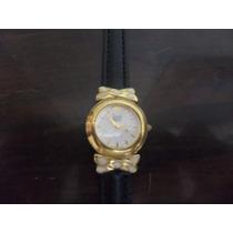 Relógio Feminino Dumont 23k , Pulseira De Couro - 685am