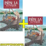 Kit 02 Bíblia Ilustrada Infantil 7 A 13anos 184 Páginas