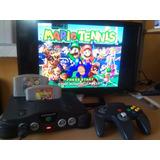 Consola N64 Con Super Mario 64 Y Mario Tenis