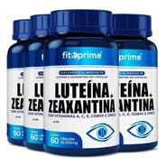 4 Luteína 20mg + Zeaxantina 3mg Vitaminas A C E Zinco 60cps