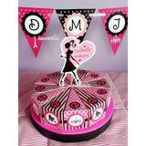 Torta Golosinera Barbie Parissouvenir Cajas Porcion Bolsitas