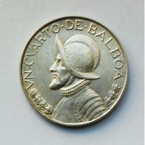 Mm Panamá 1/4 De Balboa 1947 (plata) Excelente!!