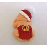 Lembrancinhas Bebe Em Biscuit Cor Vermelha Com Coroa E Imã
