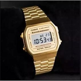 caf4b88182e Relogio Feminino Caixa Alta Dourado Masculino Casio - Relógios De ...