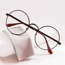 Armação Óculos Grau Redonda John Lennon Hippie Vintage Prata
