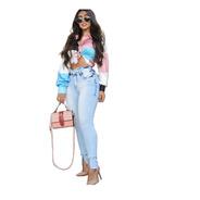 Calça Jeans Clara Com Levanta Bumbum Cintura Alta