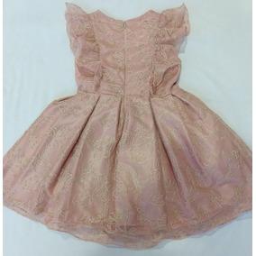 Vestido Infantil Dama Daminha Rosa Casamento