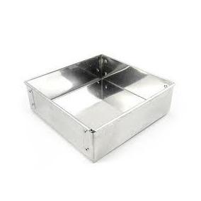 Forma Quadrada Para Bolo 25x10cm Em Aluminio