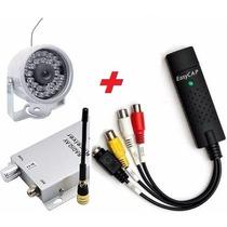 Micro Mini Câmera Sem Fio Infra Kit Placa Gravar Computador