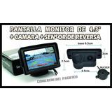 Camara De Reversa Con Sensor De Reversa + Pantalla 4.3