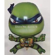 Balão Metalizado Tartaruga Ninja Kit/10 Unidades