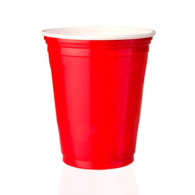 100 Unidades Red Cup Copos Americanos,copo Vermelho | 400ml