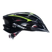 Capacete Ksw Ciclista Bike Mtb Bicolor Com Led Integrado