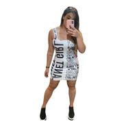 Vestido Tubinho Letreiro Planet Girls