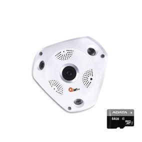 Qian Yao Camara De Seguridad 360 Wifi Hd 720p Micro Sd 64gb