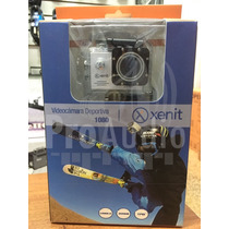 Camara Deportiva Go Xenit Pro Full Hd Sumergible Hdmi Lcd