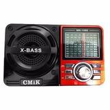 Caixa De Som Portátil Mk-1088 Rádio Mp3 Usb Am Fm 9 Bandas