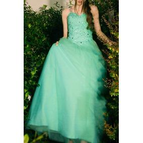 Vestido 15 Años - Verde Agua