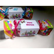 Cx Bala/ Bombom - Dia Da Crianças-papel Fosco- 10 Unidades