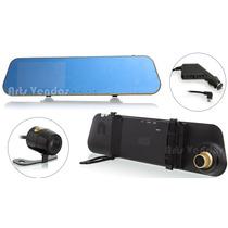 Espelho Retrovisor Tela 4,3 Lcd + Câmera Ré + Câmera Frontal