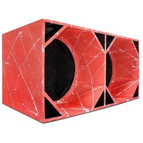 Caixa Canhão Euclides Para 2 Falantes 18 Pol De 600w A 1600w