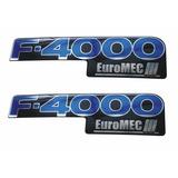 Par De Adesivo Emblema Resinado Ford F4000 Euromec 2 Peças