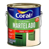 Tinta Esmalte Martelado Coral Galao 3,600 Cinza Escuro