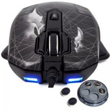 Mouse Gamer 10 Botones Con Software Y Pesas Programable