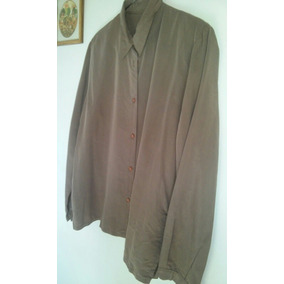 Camisa Mujer Marron Chocolate Talle 4 Grande