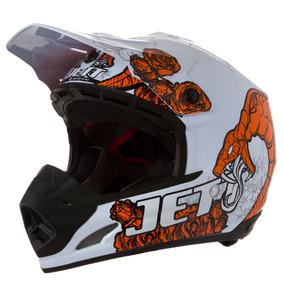 Capacete Motocross Pro Tork Th1 Jett Veneno Branco